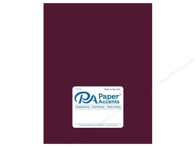 Paper Accents Cardstock 8 1/2 x 11 in. Ultra Matte Huckleberry (25 sheets)