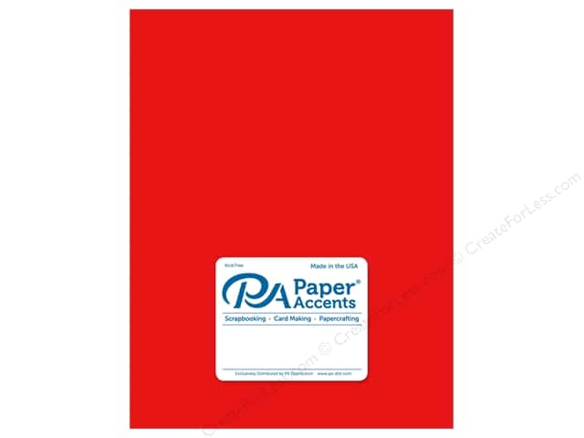 Paper Accents Cardstock 8 1/2 x 11 in. Ultra Matte Chinese Red (25 sheets)