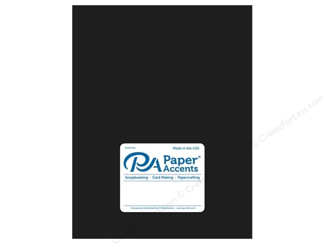 Paper Accents Cardstock 8 1/2 x 11 in. Ultra Matte Coal (25 sheets)