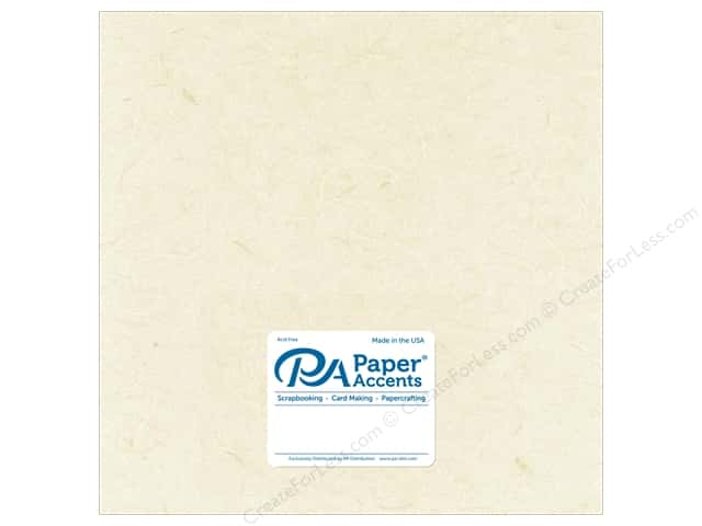 Paper Accent Mulberry Paper 12 x 12 in. Natural (25 sheets)