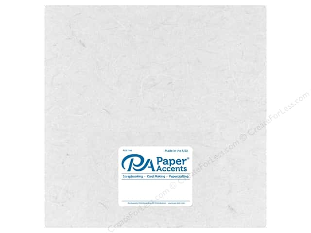 Paper Accent Mulberry Paper 12 x 12 in. White (25 sheets)