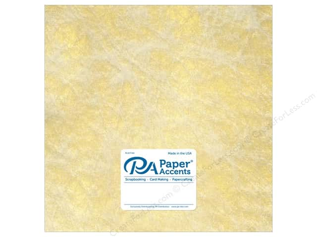 Paper Accent Cardstock 12 x 12 in. #8850 Spun Silk Gold (25 sheets)