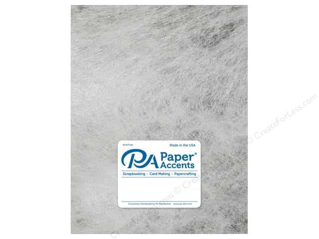 Paper Accent Cardstock 8 1/2 x 11 in. #8851 Spun Silk Silver (25 sheets)