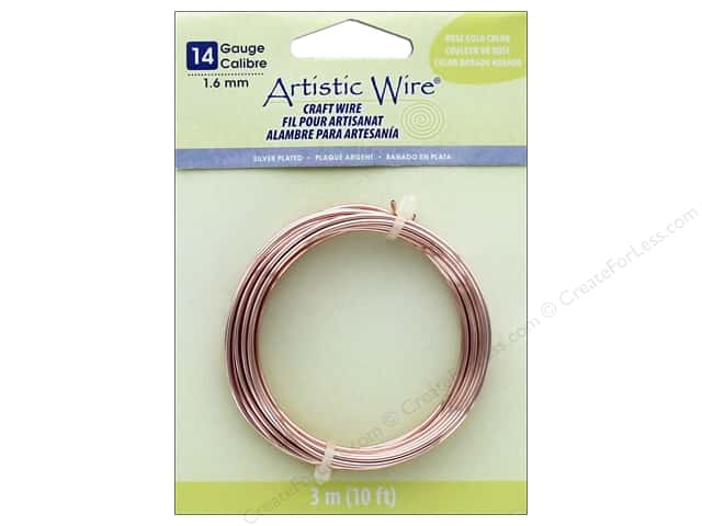 Artistic Wire 14Ga Tarnish Resistant Rose Gold 10ft