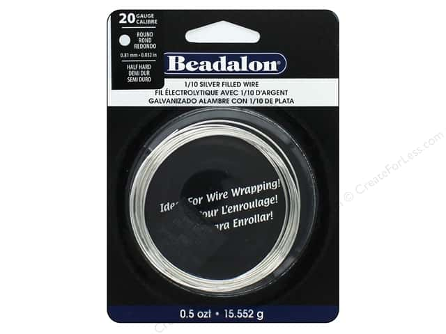 Beadalon Silver Filled Wire Round Half Hard 20 Gauge