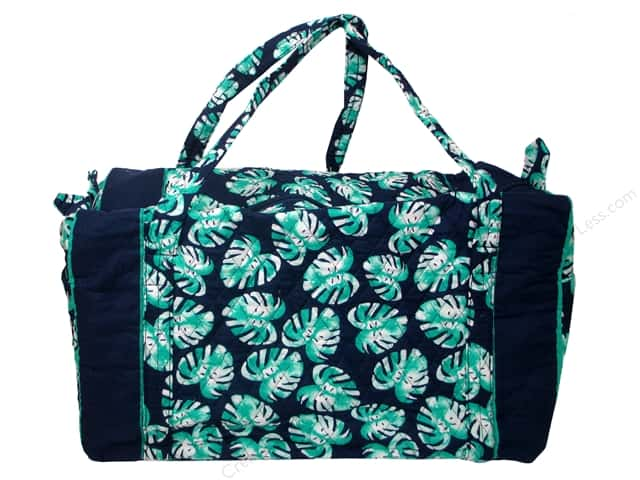 Darice Bag Fashion Fabric Duffel Palm Blue