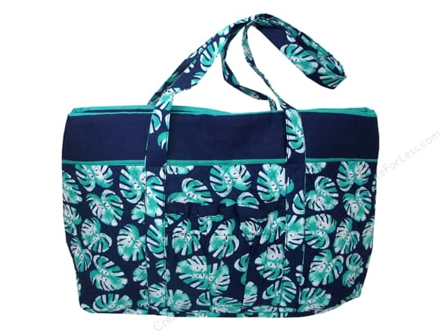 Darice Bag Fashion Fabric Tote Palm Blue