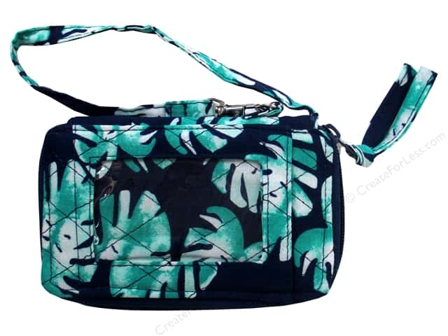 Darice Bag Fashion Fabric Cell Pouch Palm Blue