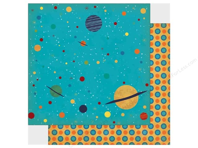 "Carta Bella Collection Space Academy Paper 12""x 12"" Solar System (25 pieces)"