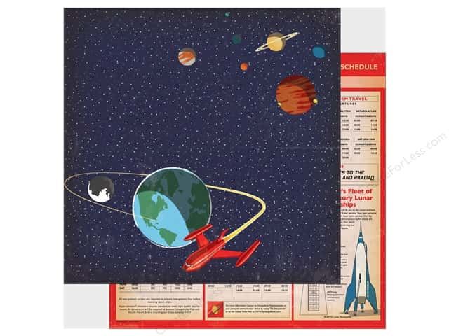 "Carta Bella Collection Space Academy Paper 12""x 12"" Space Travel (25 pieces)"