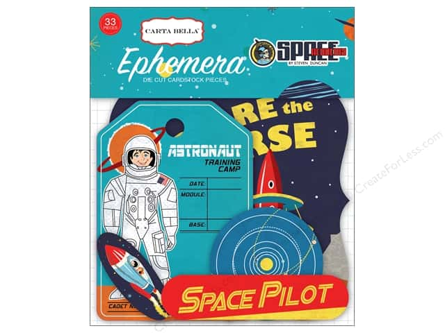 Carta Bella Collection Space Academy Ephemera
