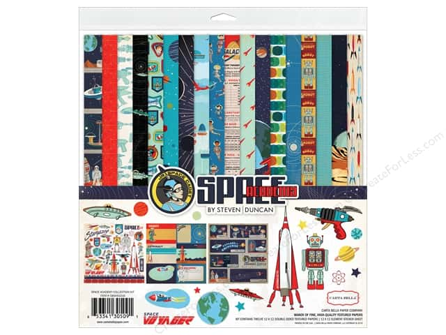 """Carta Bella Collection Space Academy Collection Kit 12""""x 12"""""""