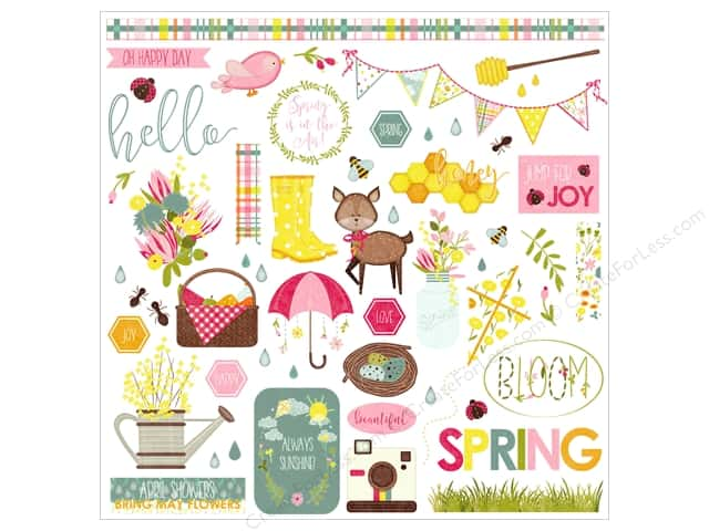 "Photo Play Collection Bloom Sticker Element 12""x 12"" (12 pieces)"