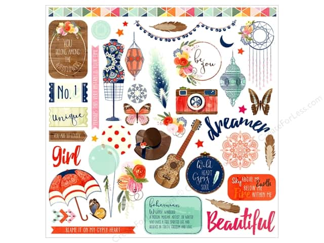 """Photo Play Collection Rhapsody Sticker Element 12""""x 12"""" (12 pieces)"""