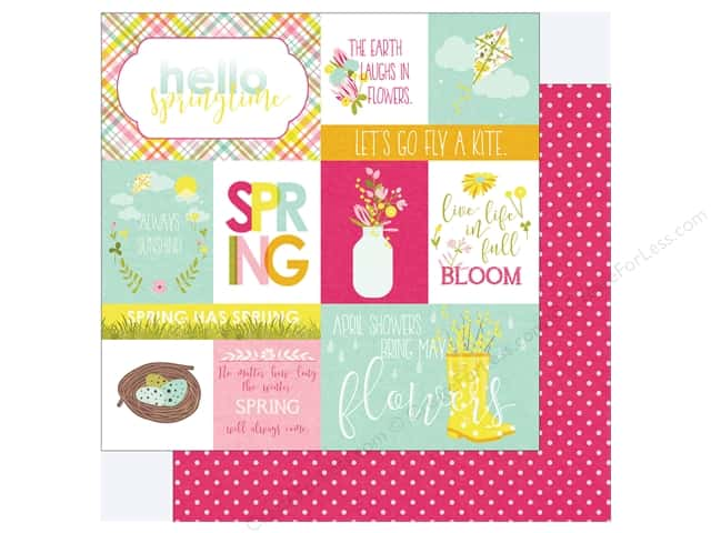 """Photo Play Collection Bloom Paper 12""""x 12"""" Springtime (25 pieces)"""