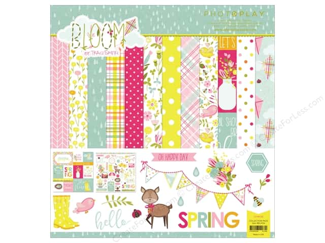 "Photo Play Collection Bloom Collection Pack 12""x 12"""