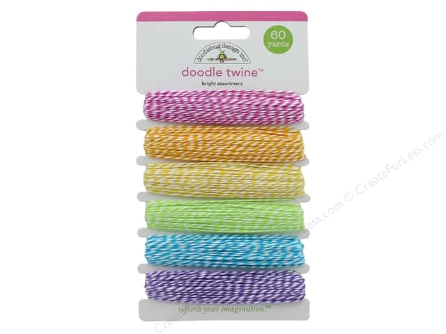 Doodlebug Doodle Twine Brights Assortment 6 pc.