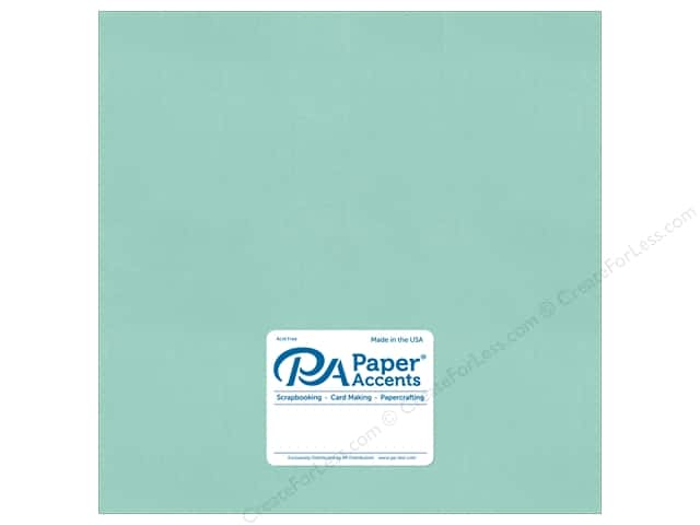 Paper Accents Pearlized Paper 12 x 12 in. #8860 Frosted Teal 5 pc.