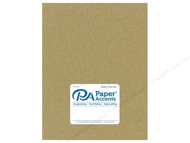 Paper Accents Cardstock 8 1/2 x 11 in. #881C Pearlized Gold 5 pc.