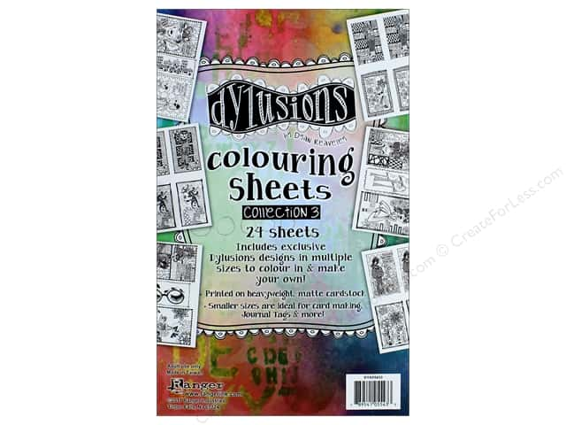 Ranger Dylusions Colouring Sheets - Collection 3