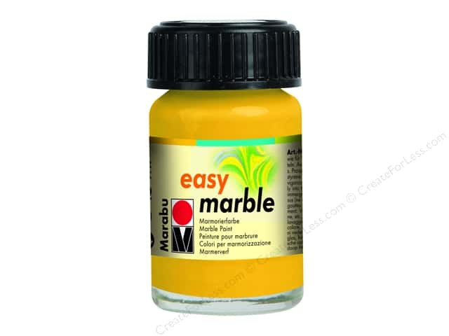 Marabu Easy Marble Paint 0.5 oz. Medium Yellow
