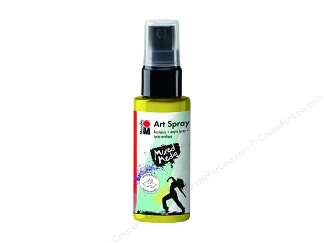Marabu Mixed Media Art Spray 1.7 oz. Lemon