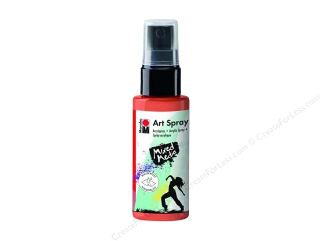 Marabu Mixed Media Art Spray 1.7 oz. Red Orange