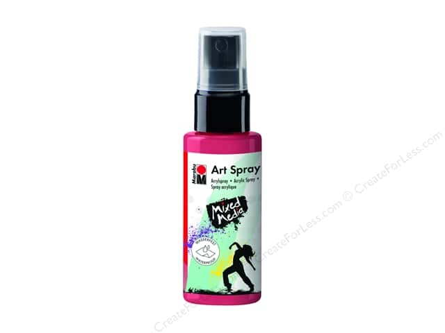 Marabu Mixed Media Art Spray 1.7 oz. Cherry Red