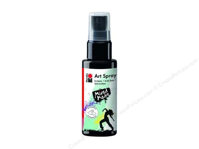 Marabu Mixed Media Art Spray 1.7 oz. Black