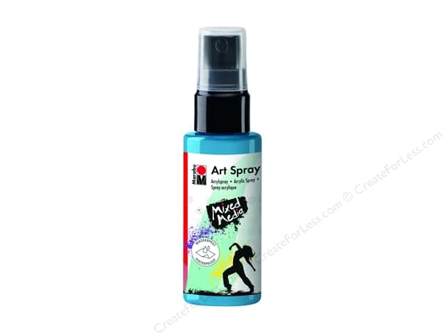 Marabu Mixed Media Art Spray 1.7 oz. Sky Blue