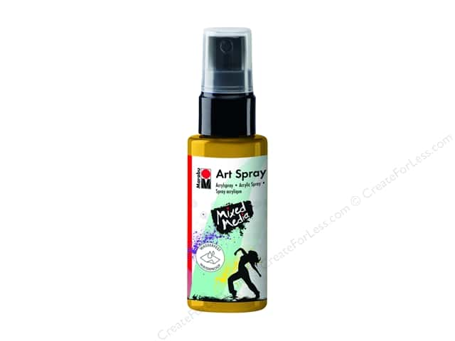 Marabu Mixed Media Art Spray 1.7 oz. Sunshine Yellow