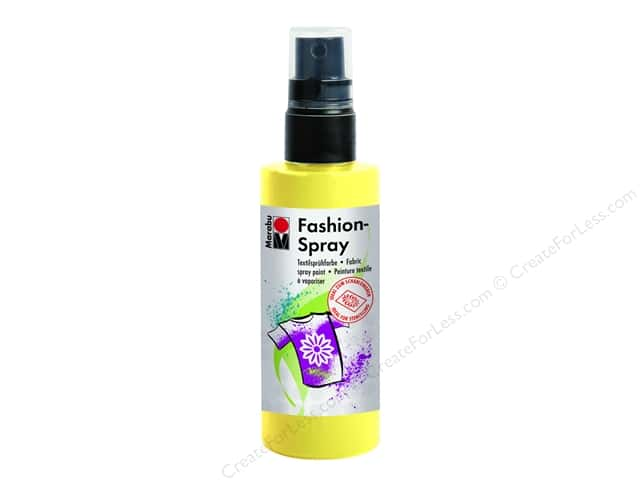 Marabu Fashion Fabric Spray Paint 3.4 oz. Lemon