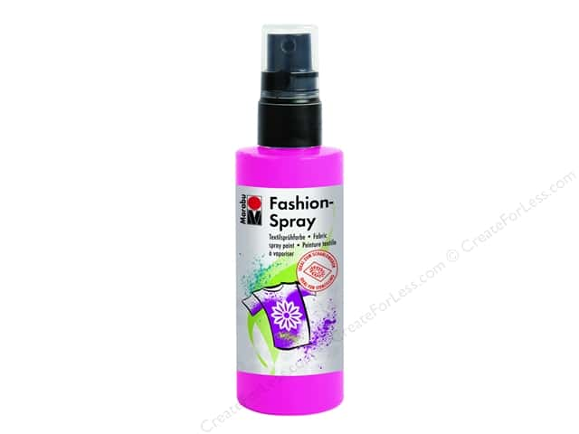 Marabu Fashion Fabric Spray Paint 3.4 oz. Pink