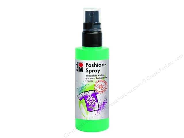 Marabu Fashion Fabric Spray Paint 3.4 oz. Apple