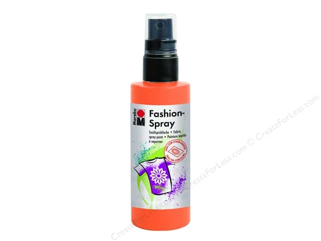 Marabu Fashion Fabric Spray Paint 3.4 oz. Tangerine
