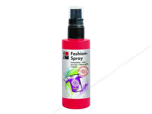 Marabu Fashion Fabric Spray Paint 3.4 oz. Red