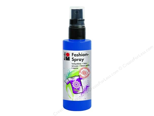 Marabu Fashion Fabric Spray Paint 3.4 oz. Marine Blue