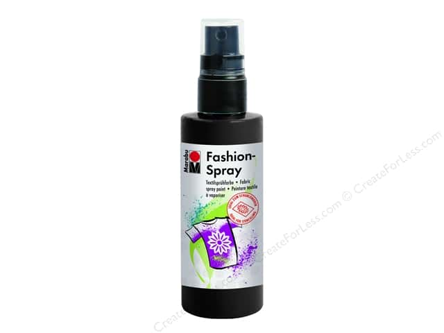 Marabu Fashion Fabric Spray Paint 3.4 oz. Black