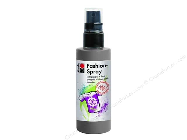 Marabu Fashion Fabric Spray Paint 3.4 oz. Grey