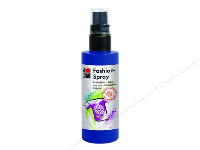Marabu Fashion Fabric Spray Paint 3.4 oz. Night Blue