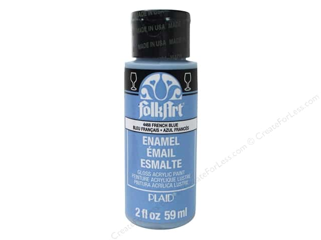 Plaid FolkArt Enamels Paint 2 oz. #4468 French Blue