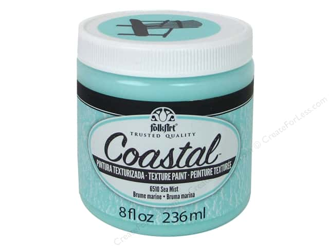 Plaid Folkart Coastal Texture Paint 8 oz. Sea Mist