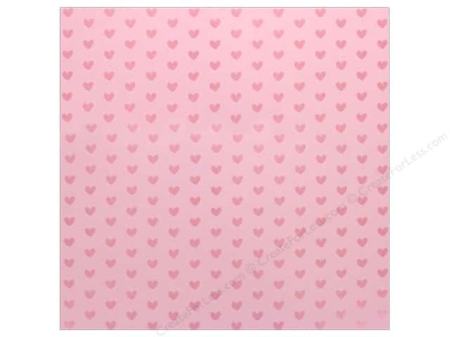 "Bazzill Paper 12""x 12"" Heart Foil Cotton Candy Pink (12 pieces)"