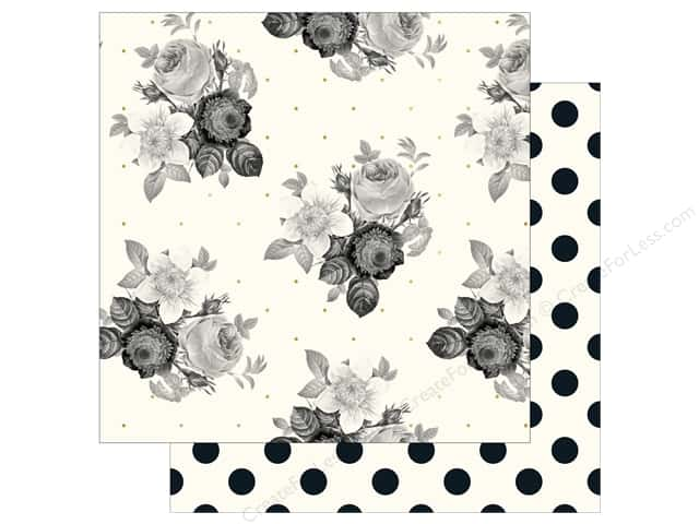 "My Mind's Eye Collection In Bloom Paper 12""x 12"" Gold Foil Romantic Blossom (25 pieces)"