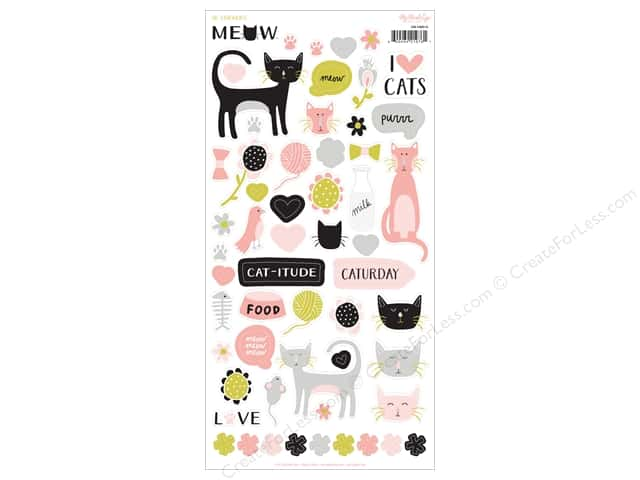 My Mind's Eye Collection Meow Sticker Sheet (12 sets)