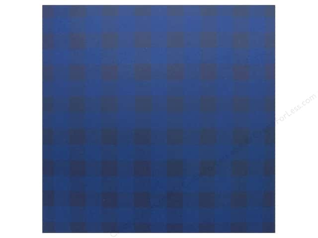 "Bazzill Cardstock 12""x 12"" Check Blueberry Sour (25 pieces)"