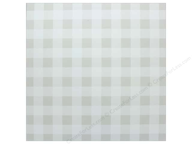 "Bazzill Cardstock 12""x 12"" Check Marshmallow (25 pieces)"