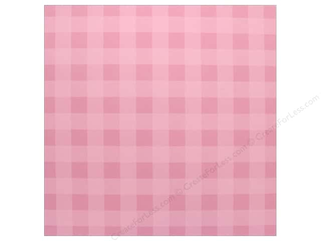 "Bazzill Cardstock 12""x 12"" Check Cotton Candy (25 pieces)"