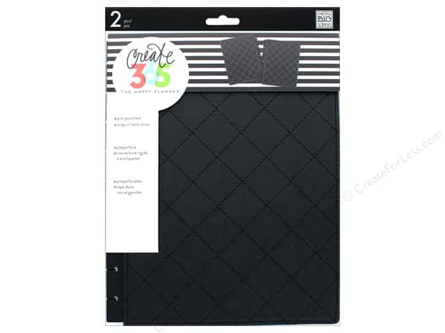 Me & My Big Ideas Create 365 Happy Planner Snap-In Cover - Classic Quilted Black