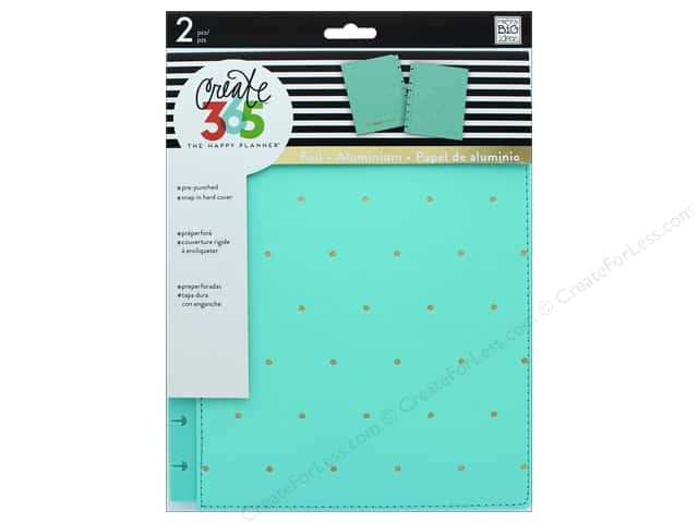 Me & My Big Ideas Create 365 Happy Planner Snap-In Cover - Classic Turquoise & Gold Dots